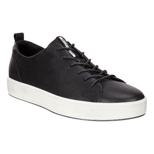 Mens Ecco Soft 8 Tie Casual Shoe - Black/White 40