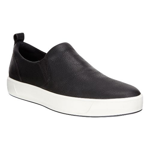 Mens Ecco Soft 8 Slip On Casual Shoe - Black 46