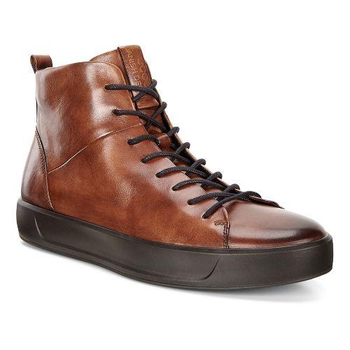 Mens Ecco Soft 8 Street High Casual Shoe - Lion 43