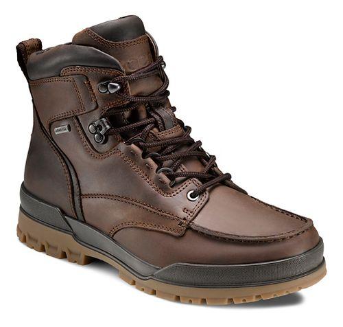 Mens Ecco Track 6 GTX Moc Toe High Casual Shoe - Cocoa Brown/Coffee 43