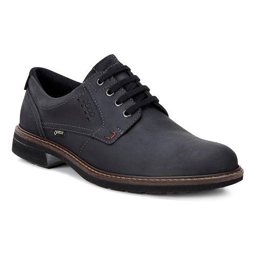 Mens Ecco Turn GTX Plain Toe Tie Casual Shoe - Black/Black 43