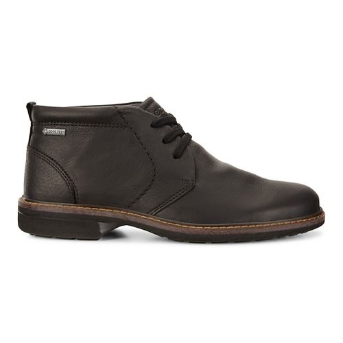 Mens Ecco Turn GTX Chukka Tie Casual Shoe - Black 39