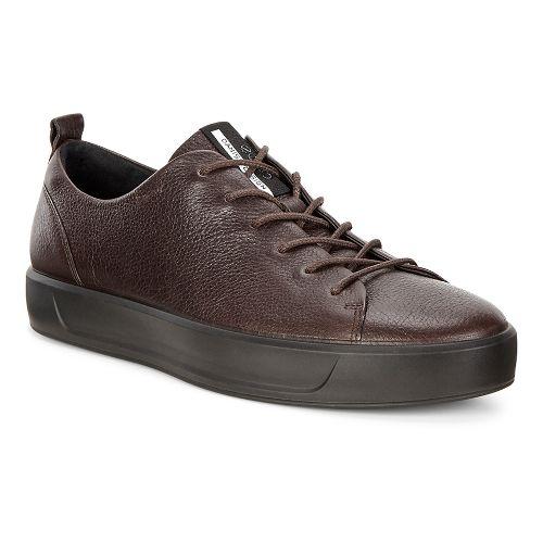 Mens Ecco Soft 8 High Top Casual Shoe - Coffee 41