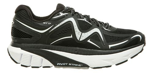 Womens MBT GT 17 Running Shoe - Black/White 10.5