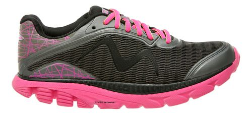 Womens MBT Racer 18 Running Shoe - Dark Grey/Fuchsia 10.5