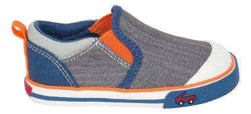 Boys See Kai Run Slater Casual Shoe - Grey/Blue 9C