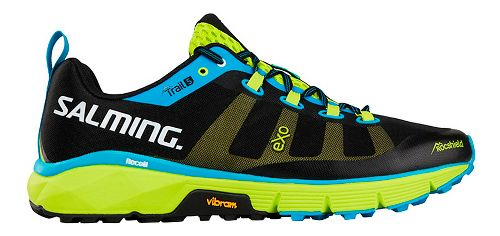 Mens Salming Trail 5 Running Shoe - Black/Lime 14