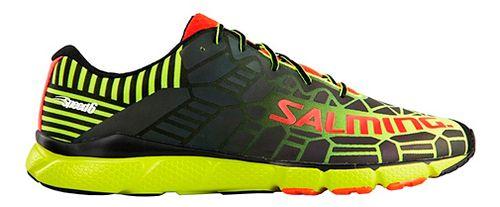 Mens Salming Speed 6 Running Shoe - Safety Yellow/Black 9
