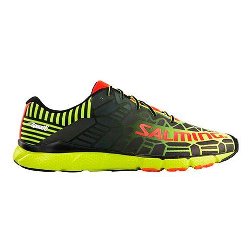 Mens Salming Speed 6 Running Shoe - Safety Yellow/Black 12.5