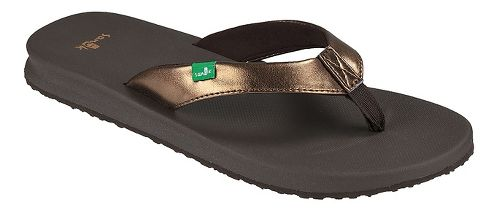 Womens Sanuk Yoga Mat Wander Metallic Sandals Shoe - Bronze 10
