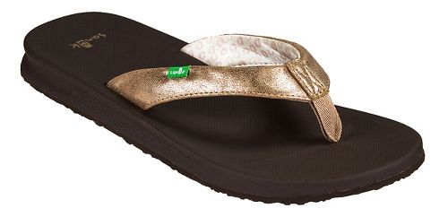 Womens Sanuk Yoga Mat Wander Metallic Sandals Shoe - Champagne 10