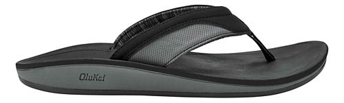 Mens OluKai Nohana Sandals Shoe - Black/Black 13