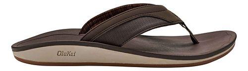Mens OluKai Nohana Sandals Shoe - Dark Wood/Dark Wood 9