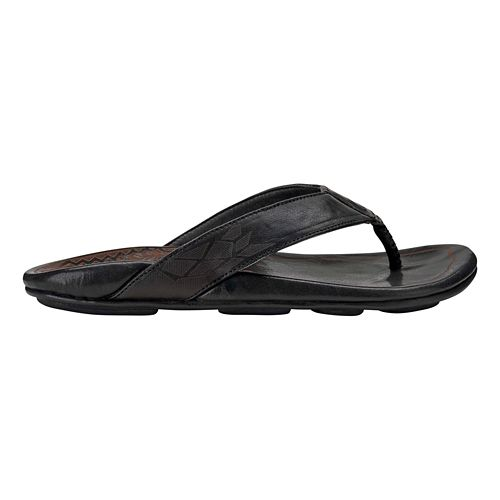 Mens OluKai Kulia Sandals Shoe - Black/Black 11