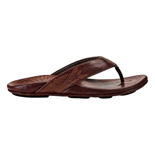 Mens OluKai Kulia Sandals Shoe - Dark Wood/Dark Wood 7