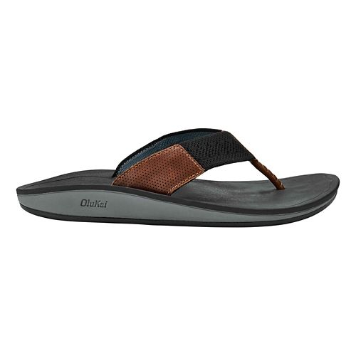 Mens OluKai Nohana Ulana Sandals Shoe - Black/Black 12