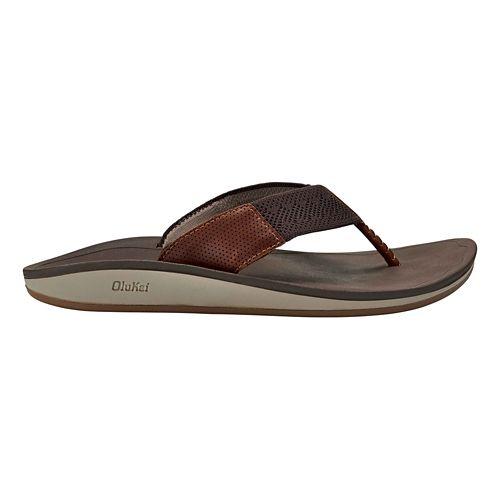 Mens OluKai Nohana Ulana Sandals Shoe - Dark Wood/Dark Wood 8