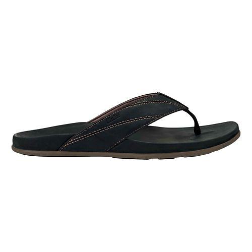 Mens OluKai Pikoi Sandals Shoe - Black/Black 15