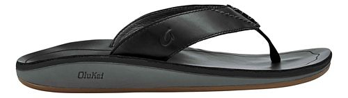 Mens OluKai Nohana Ili Sandals Shoe - Black/Black 14