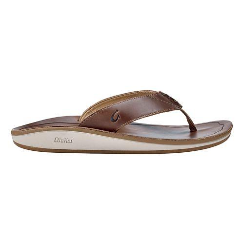 Mens OluKai Nohana Ili Sandals Shoe - Tan/Tan 12