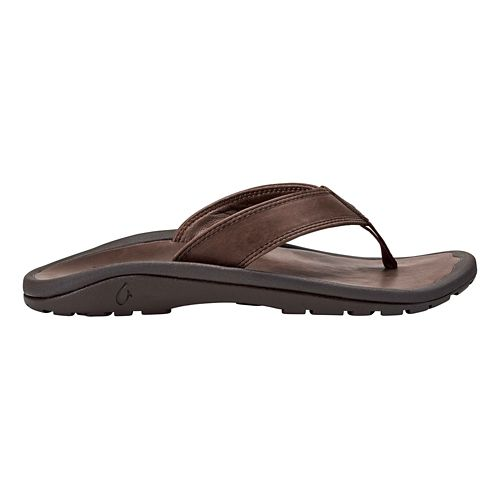 Mens OluKai Ohana Ili Sandals Shoe - Dark Wood/Dark Wood 10