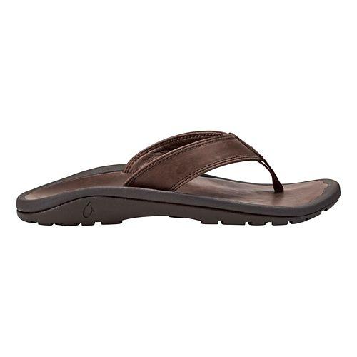 Mens OluKai Ohana Ili Sandals Shoe - Dark Wood/Dark Wood 11