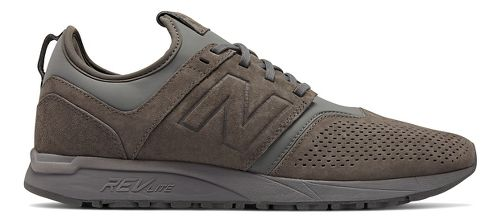 Mens New Balance 247 Suede Casual Shoe - Grey 10