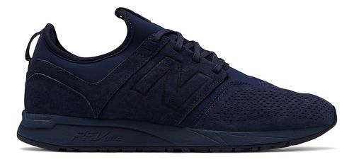 Mens New Balance 247 Suede Casual Shoe - Navy 8