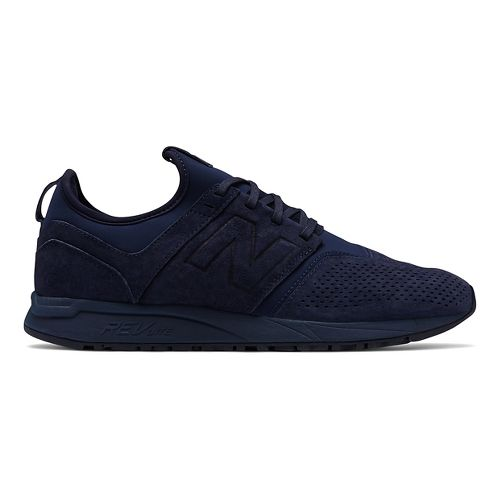 Mens New Balance 247 Suede Casual Shoe - Navy 10