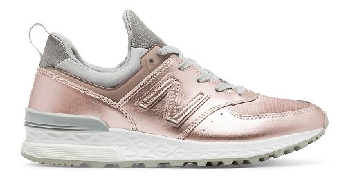 Womens New Balance 574 Sport Casual Shoe - Rose Gold 6