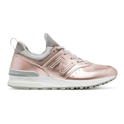 Womens New Balance 574 Sport Casual Shoe - Rose Gold 10