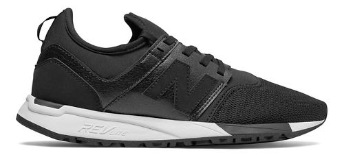 Womens New Balance 247 Casual Shoe - Black/White 7.5