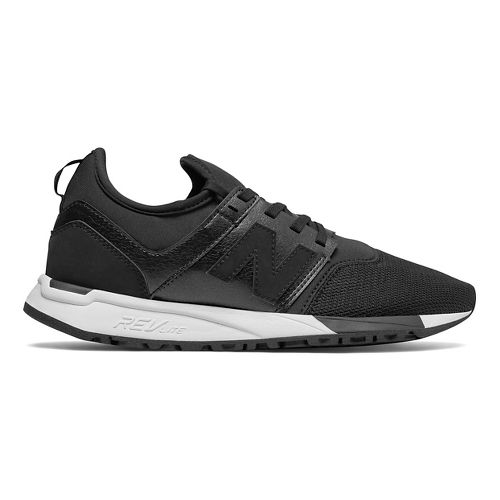 Womens New Balance 247 Casual Shoe - Black/White 8.5
