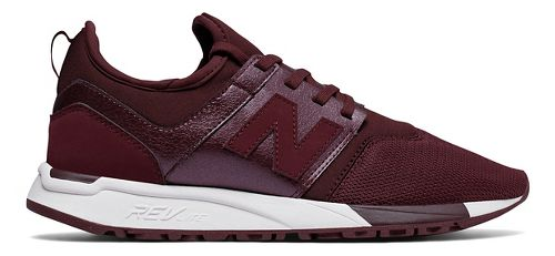 Womens New Balance 247 Casual Shoe - Cherry/White 9