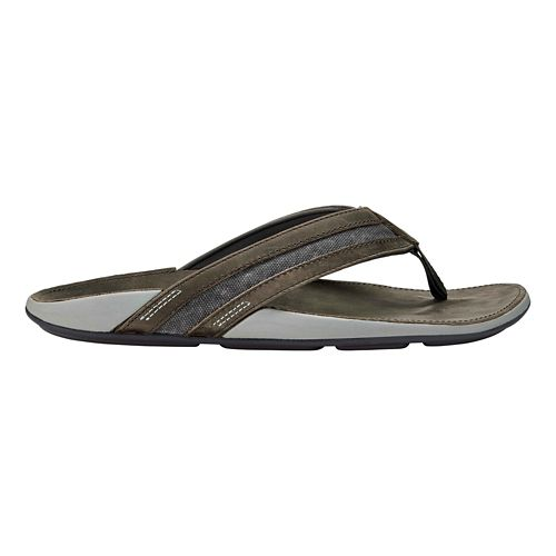 Mens OluKai Ikoi Sandals Shoe - Charcoal/Charcoal 15