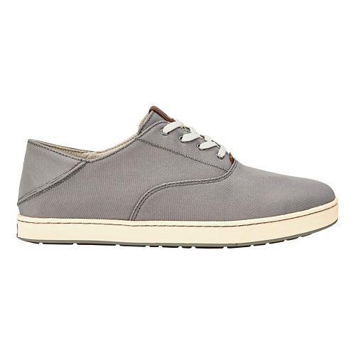 Mens OluKai Kahu Lace Casual Shoe - Fog/Off White 9.5