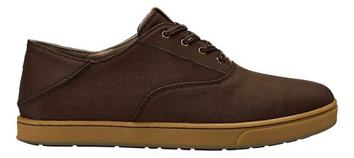 Mens OluKai Kahu Lace Casual Shoe - Dark Wood/Toffee 8