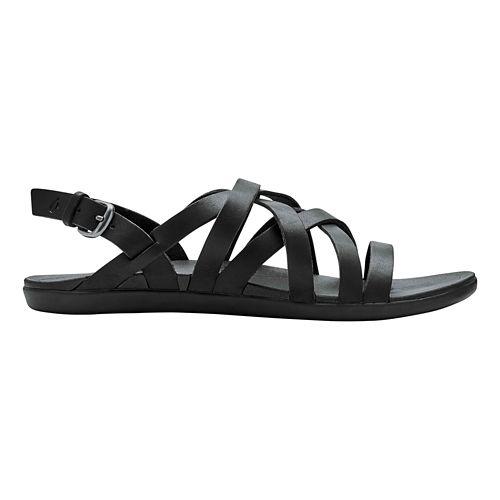 Womens OluKai Awe'Awe Sandals Shoe - Black/Black 8
