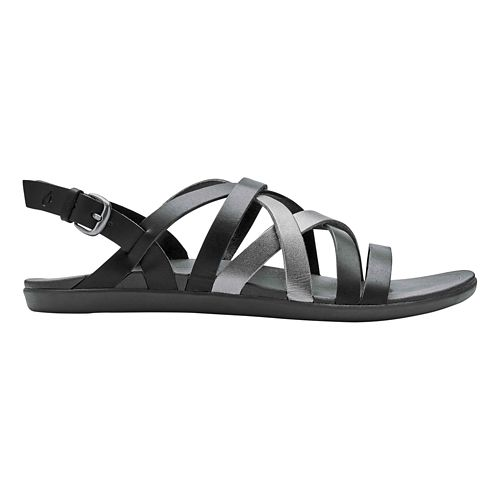 Womens OluKai Awe'Awe Sandals Shoe - Dark Shadow/Pewter 6