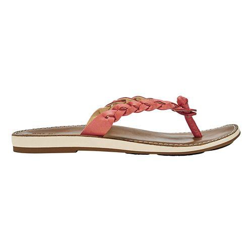 Womens OluKai Kahiko Sandals Shoe - Peach/Tan 8
