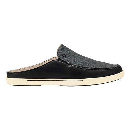 Womens OluKai Huaka Casual Shoe - Black/Dark Shadow 6.5