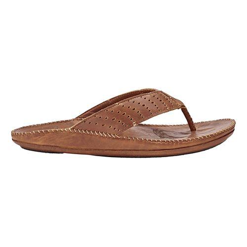 Mens OluKai Hoe Sandals Shoe - Dark Wood/Toffee 8
