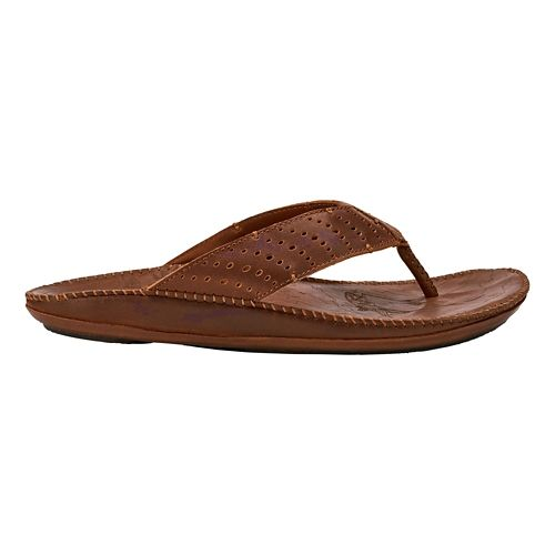 Mens OluKai Hoe Sandals Shoe - Rum/Rum 9