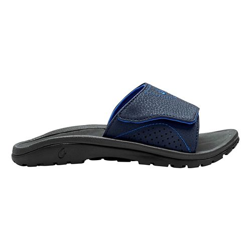 Kids OluKai Nalu Slide Sandals Shoe - Navy/Lava Rock 13C/1Y