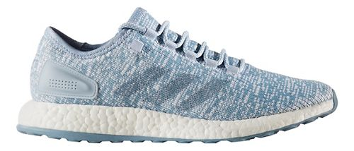 Mens adidas Pure Boost Running Shoe - Blue/Blue/White 8