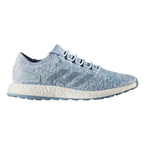 Mens adidas Pure Boost Running Shoe - Blue/Blue/White 9