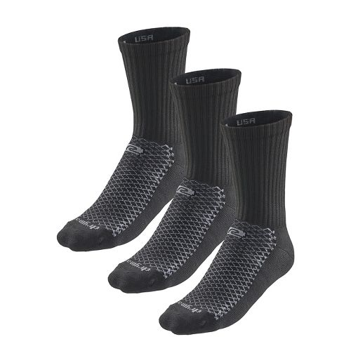 R-Gear Drymax Dry-As-A-Bone Thick Cushion Crew 3 pack Socks - Black L