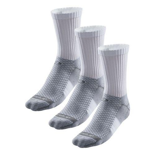 R-Gear Drymax Dry-As-A-Bone Thick Cushion Crew 3 pack Socks - White M