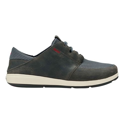 Mens OluKai Makia Lace Casual Shoe - Charcoal/Charcoal 9