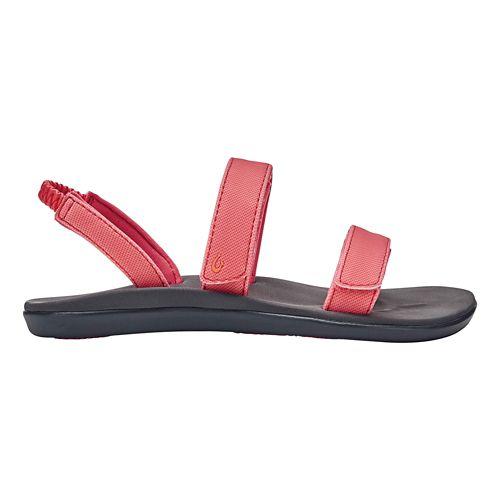 Girls OluKai Kipuka Sandals Shoe - Coral/Charcoal 2Y